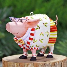"Mini Norbert Dressed Up Pig Ornament - 08-30956 - 3"" - in personal collection"
