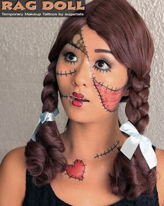 SALE Rag Doll Temporary Makeup Tattoos for Costumes di SugarTats