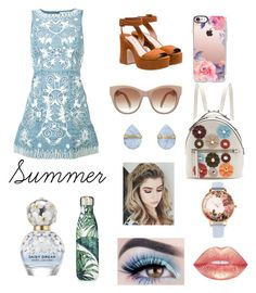 """Summer 🌴🌴"" by dolcejaquelin on Polyvore featuring Alice + Olivia, Miu Miu, Fendi, Casetify, Melissa Joy Manning, Olivia Burton, Marc Jacobs and S'well"