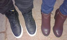Shoe game! His and hers! Sneakers vs Boots