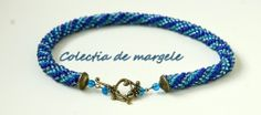 Bluehorse -  crochet beading necklace  www.colectiademargele.ro