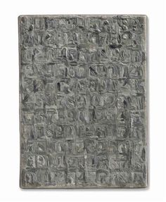 Artwork by Jasper Johns, Gray Numbers, Made of Encaustic on canvas Neo Dada, John Gray, Jasper Johns, Abstract Expressionism, Contemporary Artists, Pop Art, Numbers, Canvas, Grey