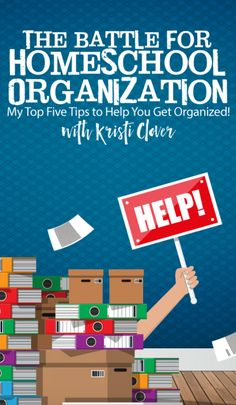 Homeschool veteran, Kristi Clover, has 5 tips that will help you get your homeschool organized. Homeschool organization can be done with this crate system School Organization, Organizing, Classroom Organisation, Home Schooling, Science Lessons, Homeschool Curriculum, Book Recommendations, Getting Organized, Battle