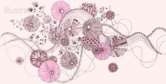 Fantasy Flowers and Ribbons in Pink