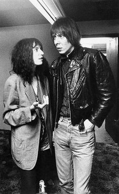 Patti Smith with her husband and collaborator the guitarist Fred 'Sonic' Smith in 1978.
