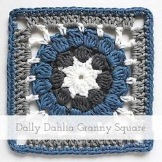Dally Dahlia Granny Square | Free pattern + Tutorial