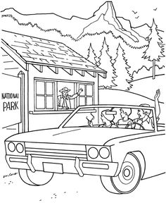 National Park Visitor Coloring Page