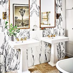 Marble goodness. The new home of one of my faves @nateberkus. Via @archdigest. #interiorinspo #scloves