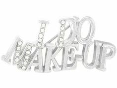 """I Do Make-up"" Crystal Pin Jewelry - Make up Beautician Jewelry"