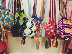 Colombian Wayuu Mochila Bag in a geometric pattern