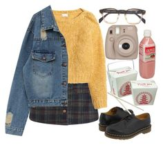 """☁️Rayame☁️"" by rayame ❤ liked on Polyvore featuring H&M, Dr. Martens and Fujifilm"