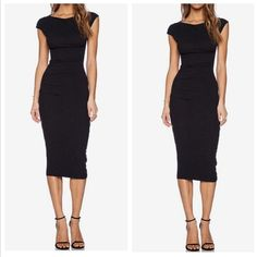 Little Black Dress Ruched sheath dress. With its modest neckline and traditional silhouette, this dress will help you look professional and authoritative. Also perfect for evening wear. Date night approved  Ralph Lauren Dresses