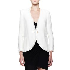 Rank & Style Top Ten Lists | Helmut Lang Twisted Blazer #rankandstyle #workwear #classic #career