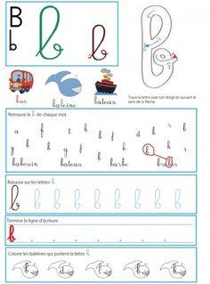 """Imprimer la page du """" b """" pour le livre GS / CP sur les minuscules"""