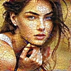 Combining two picture with neural networks Paper Mosaic, Mosaic Tile Art, Mosaic Artwork, Mosaic Crafts, Mosaic Glass, Mosaic Portrait, Portrait Wall, Archangel Tattoo, Mosaic Pieces