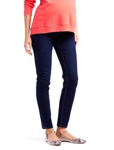 The perfect fit   petite secret fit belly 5 pocket skinny leg maternity jean by Jessica Simpson available at Destination Maternity