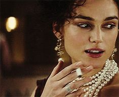 "Keira Knightley in ""Anna Karenina"" Anna Karenina Book, Ana Karenina, Keira Knightley, Women Smoking Cigarettes, Girl Bye, Film World, Aaron Taylor Johnson, Photoshoot Makeup, Past Life"