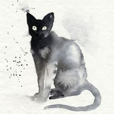 cats and comic book art - Blue