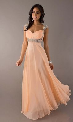 prom dresses prom dresses 2015 prom dresses short 2014 a-line straps floor-length chiffon with beading prom dress