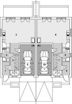 Projekt domu Eco 16 - dwulokalowy 224,44 m2 - koszt budowy - EXTRADOM Floor Plans, Floor Plan Drawing, House Floor Plans