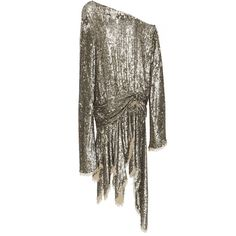 Zimmermann Folly Elusive Off-The-Shoulder Dress (€2.870) ❤ liked on Polyvore featuring dresses, sequin sheath dress, zimmermann dresses, brown sequin dress, sheath dress and sequin dress