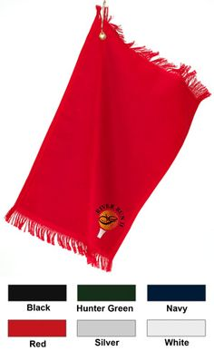 Anvil Fringed Fingertip Embroidered Corporate Golf Towels with Grommet & Hook $11.65