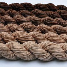 Walnut Gradated Yarn Set by colorshiftyarn on Etsy