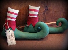 Elf Boots with sand for door stops