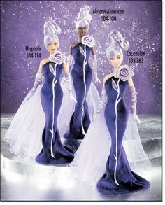 The Sterling Silver Rose Barbie, exclusive to Avon. This image is from an Avon catalog.
