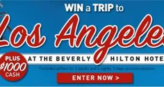 WIN a Trip to the Beverly Hilton Hotel in Los Angeles Contest on http://www.freebiescouponsdeals.com/
