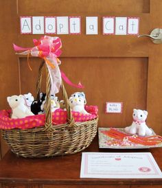 Cute Kitty Cat Party {Girls Birthday}                                                                                                                                                                                 More