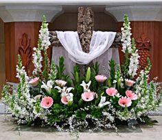 성전꽃꽂이 재단장식 꽃장식 유성교회 성전꽃꽂이 : 네이버 블로그 Tropical Flower Arrangements, Church Flower Arrangements, Altar Decorations, Flower Decorations, Alter Flowers, Church Wedding Flowers, Flower Stands, Floral Centerpieces, Kirchen