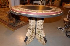 Another Goodwill Find , Only This One is for Sale . Antique Table