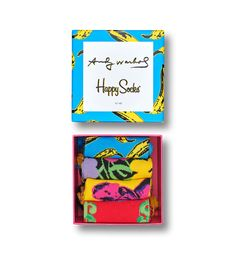 Get the complete Andy Warhol x Happy Socks collection box set. The exclusive collection celebrates the legendary pop-artist Andy Warhol through his icon. Andy Warhol Banana, Mobile Art, Happy Socks, Colorful Socks, Arte Pop, Fan, Cool Socks, Box Design, Pop Art