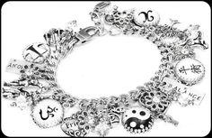 Silver Charm Bracelet, Inspirational Bracelet, Inspirational Jewelry, Balanced Life Charm Bracelet, Metaphysical Jewelry - Blackberry Designs Jewelry
