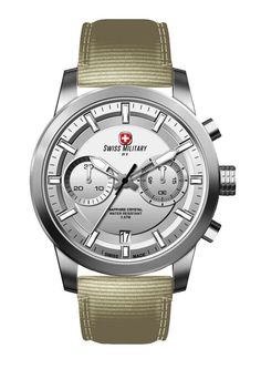 Swiss Military by R 09501 3 A Sniper Men's Watch Chronograph Beige Nylon Strap