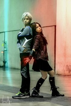 Quicksilver & Scarlet Witch - Lucas Maximoff (Jr. Wayne Cosplay) Quicksilver & Scarlet Witch Cosplay Photo - WorldCosplay