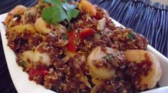 Spicy Red Quinoa & Shrimp