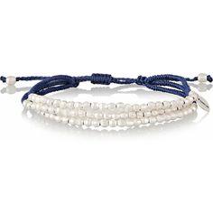 Chan Luu Silver beaded bracelet ($80) ❤ liked on Polyvore featuring jewelry, bracelets, rope bracelet, chan luu bracelet, bracelet jewelry, chan luu and polish jewelry