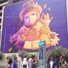 In Santiago de Chile, you'll find some of THE BEST street art in the world! Have…
