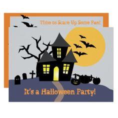 Haunted Halloween Party Invitation - invitations custom unique diy personalize occasions