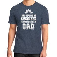 Engineer dad District T-Shirt (on man)