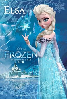 """FAKE posters for Disney's """"Frozen"""". Character designs are REAL! Posters are fake. #elsa #thesnowqueen #frozen #disney"""