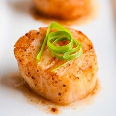 Simple and elegant—Seared Scallops.