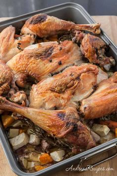 Roast Turkey with Root Vegetables and Gravy