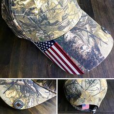 Camo and Flag Cap with Shotgun Shell