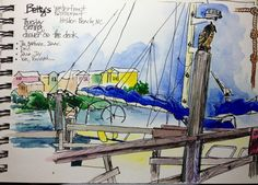 Sketchbook: Betty's, Holden Beach, May 2009