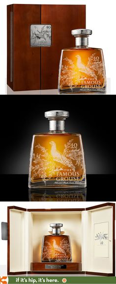 The Famous Grouse Special 40 year Decanter and box designed by The Timorous Beasties. Only 276 decanters were made. PD