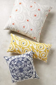Luisette Embroidered Pillow - anthropologie.com