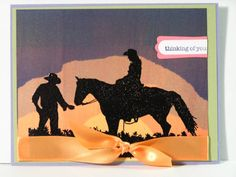 Spring Silhouette sunset by c-mouse - Cards and Paper Crafts at Splitcoaststampers